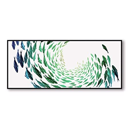 Dlfalg Vida Simple Verde Elegante Poesía Zen Resumen Peces ...