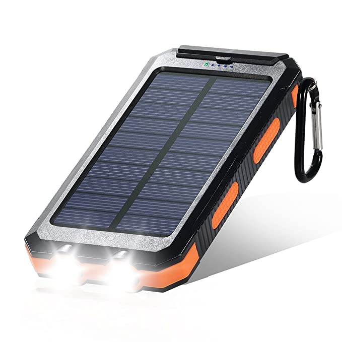 dostyle Cargador Solar, 10000 mAh Dual USB Cargador de ...