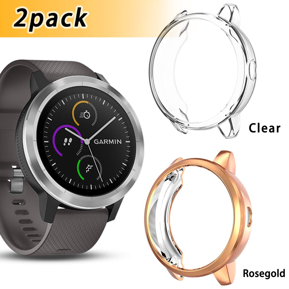 Anzela 2 Pack Funda para Garmin Vivoactive 3 Entrenador ...