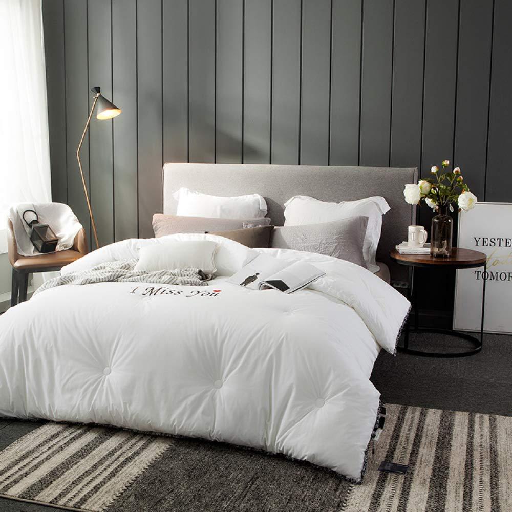 Littlefairy Daunendecke,High-End-Bettwäsche Quilt aus weißer Baumwolle Winter ist Verdickte Seide Quilt Kern