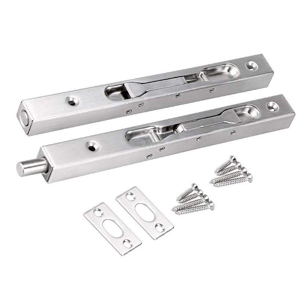 BTMB 8 inch Stainless Steel Concealed Security Door Lock for Double Doors,Wood Doors 2 Pcs