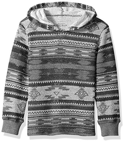 Lucky Brand Boys' Long Sleeve Pullover Hoody, Grey Heather, 6 from Lucky Brand