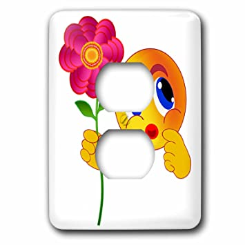 3d Rose Lsp2544116 Happy Yellow Smiley Emoticon Emoji Pink Flower