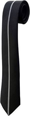 Corbata Fina Negra, de panal de abeja negro fines Rayure Design ...