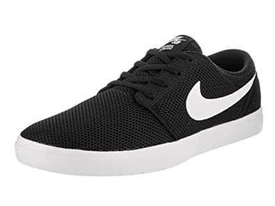 low priced db9df cabd1 Nike Mens Sb Portmore Ii Ultralight BlackWhite Ankle-High Skateboarding  Shoe - 9M