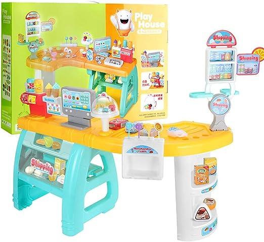 Juguetes de la Caja registradora del supermercado para niños, mostrador del cajero de la Tienda Mostrador de Ventas de simulación Fingir un Juguete, mostrador de Ventas de Dulces/jugos/Helados C: Amazon.es: Hogar