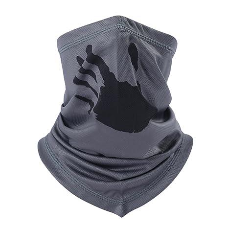 ITODA passamontagna maschera mezzo volto traspirante antivento maschera  bandana leggero elasticizzato collo caldo velo sciarpa multiuso 57125b2f001b