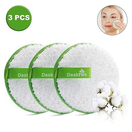 Discos Desmaquillantes Reutilizables Lavables 4.52inch 3 Unidades Almohadillas para limpieza facial algodones desmaquillantes reutilizables para