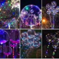 20 inches Bubble BoBo Balloon LED String Lights, RGB Multi-Colors Bubble Lights for Party, Christmas Decorative, Bar, Birthday, Fillable with Helium and 72hours Working Time-Multi(Pack of 4)