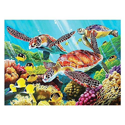 - VKTECH Sea Turtle Full 5D DIY Diamond Painting Kit Mosaic Round Rhinestone Embroidery Canvas Cross Stitch Picture Craft Gift for Living Room Bedroom Decor 16x12 inch