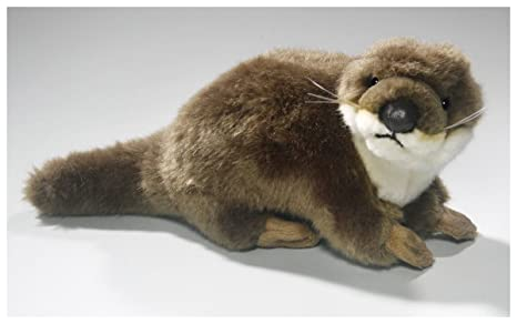 Otter standing 7 inches, 10 inches with tail, 18cm/26cm, Plush Toy