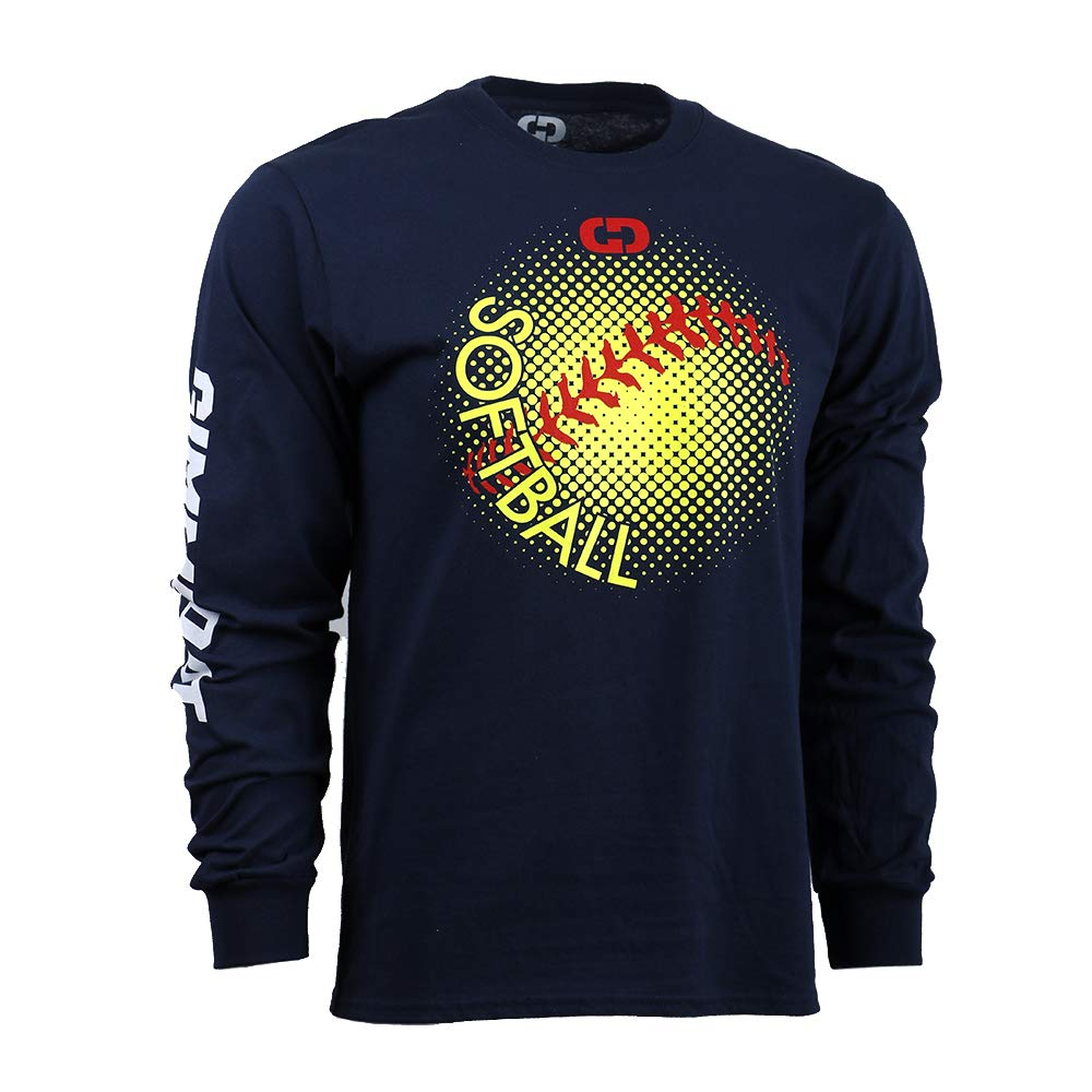 Gimmedat Customizable Softball Dots Long Sleeve Softball T Shirt
