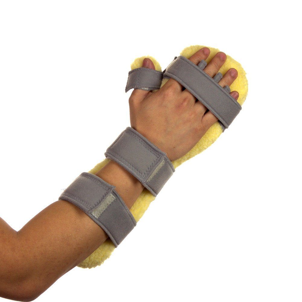 Centron Foam Rest & Sleep Stroke Hand Positioning Brace and Wrist Splint - Right Side WRS06AGR (Large)