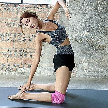 Abracing 2 Pi/èces Attelle de Genou Soutient Rembourr/é Respirable Anti-d/érapage /Épais Genou Prot/ège Coussin pour Danse Yoga
