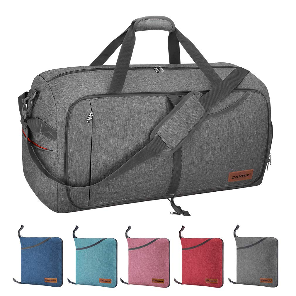 Canway 85L Travel Duffel Bag, Foldable Weekender Bag with Shoes Compartment  for Men Women Water 22728520a6