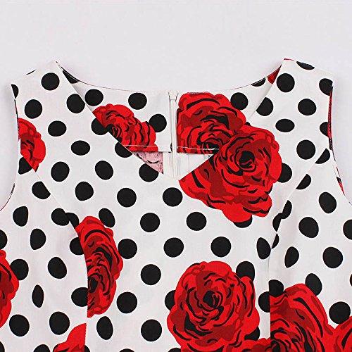 Starall Sommer Blumen Cocktail Party Kleid Retro Vintage 50er Jahre ...