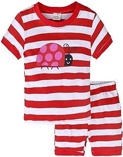 Clearance!2pc Neonato Ragazzi Bambino Senza Maniche Pigiama Cartone Animato StampareTop Cime T Shirt Top + Pantaloni Outfits Clothes Set
