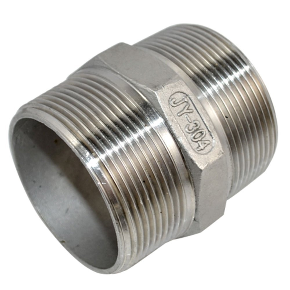 Male to Male Hex Nipple Threaded Pipe Fitting NPT Stainless Steel SUS304 3//4