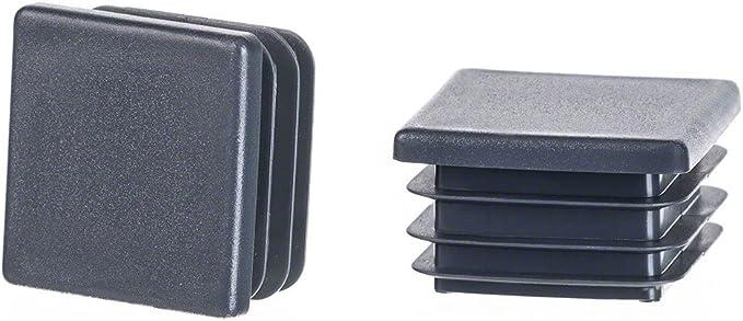 Bouchon pour tuyau carr/é 45x45 noir plastique Embout bouchons dobturation 1 pcs
