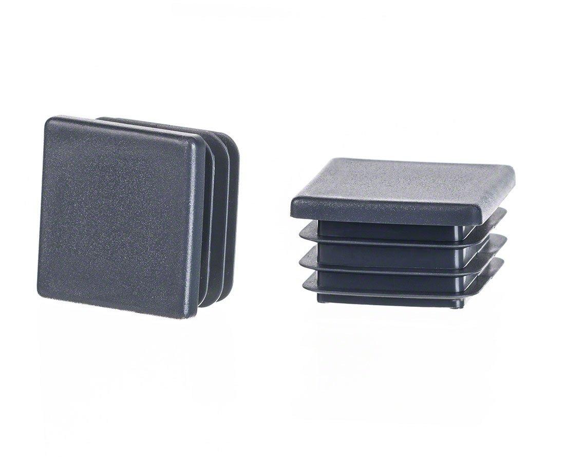 5 Stck Quadratstopfen 60x60 Wei/ß Kunststoff Lamellenstopfen Abdeckkappe