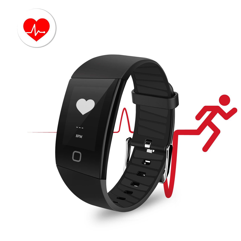 Fitness Armband ip68, Uten Bluetooth Aktivität FitnessTracker Fitnessuhr mit Pulsmesser Blutdruckmesser und Herzfrequenzmesser Wasserdicht Fitness Smartwatch mit Schrittzähler Kalorienzähler kompatibel mit IOS Andriod