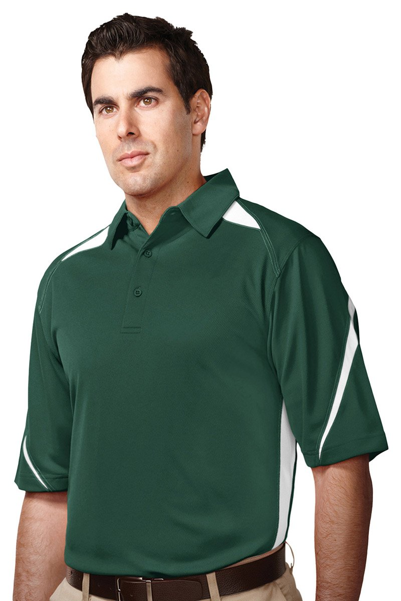 Tri Mountain Mens Performance Polyester Birdseye Mesh Polo Shirt