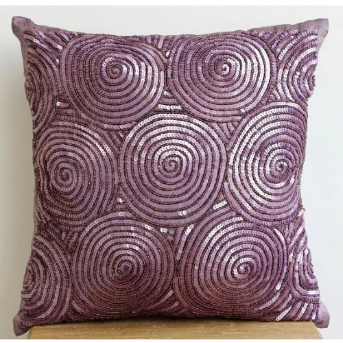 Designer Purple Euro Sham, - abstract purple throw pillows