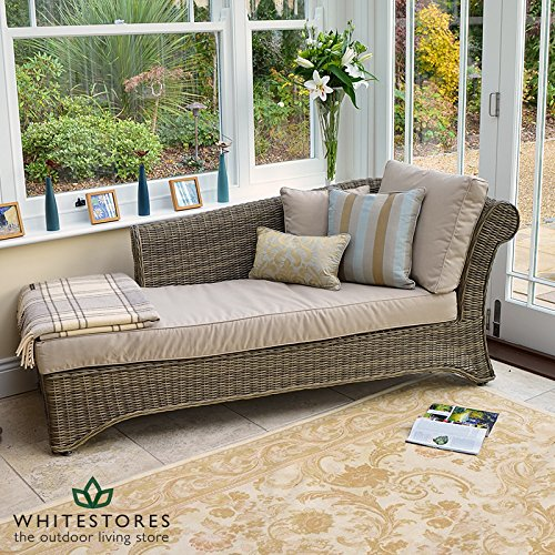 Chaiselongue rattan  Maze Rattan Winchester Conservatory Furniture Chaise Longue with ...