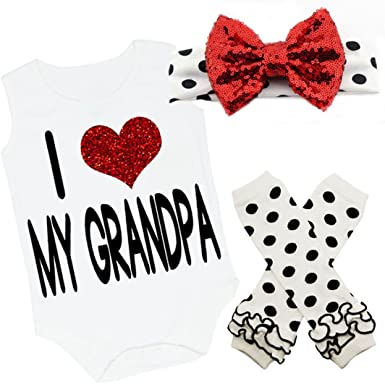 "Carter/'s /""I Love Grandpa/"" 3 Piece Body Suit Pant Set"
