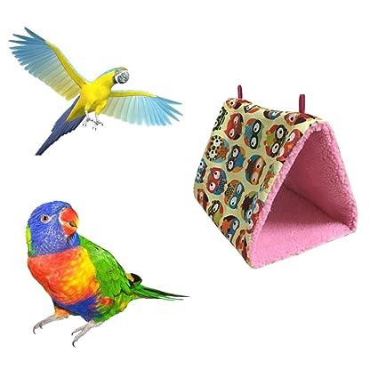 Bird Supplies Pet Bird Soft Plush Hanging Bed Cage Parrot Hammock Warm Pad Mat Cave Hut Tent Toys House Bird Parrot Hammock Bed Toys Bird Cages & Nests