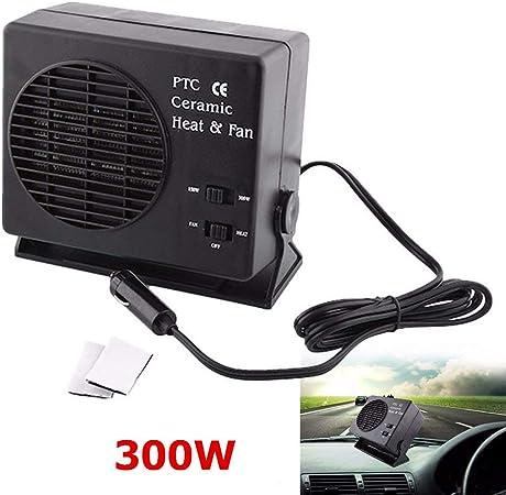 Ventilateur de chauffage pour voiture 12V 150W // 300Watt En watts : 12V 300W Delaman Chauffage Ventilateur de chauffage int/érieur en c/éramique /à /économie d/énergie pour d/égivreur de chaleur