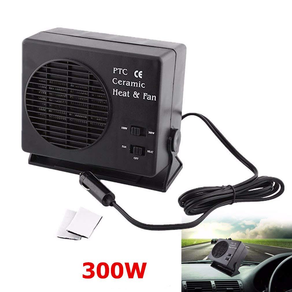 Termoventilatore per Auto - Delaman Ventilatore per Riscaldamento a Risparmio Energetico Ventilconvettore Per Auto In Ceramica Riscaldamento Interno Sbrinatore Demister, 12V 150W / 300watt
