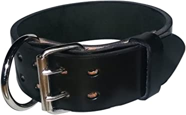 Pitbull & Large Breeds Leather Dog Collar - Free Personalization - Pet Training