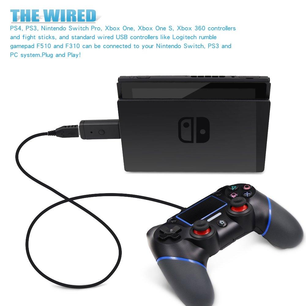 Amazon.com: Yocktec Nintendo Switch USB Wireless Controller Adapter ...