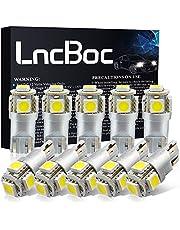 LncBoc T10 W5W 1156 Led 1157 Led BAY15D Led BA15S c5w 36mm 39mm 42mm 501 Bombillas LED W5W 194 168 Para interior de automóvil, tablero de instrumentos, placa de matrícula, luces laterales de arranque