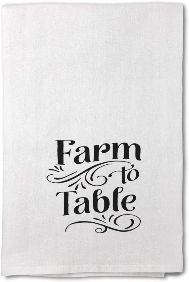 Style In Print Custom Decor Flour Kitchen Towels Farm to Table Farmers Market Quote Home & Hearth Home & Hearth Barns & Farms Cleaning Supplies Dish Towels Design Only