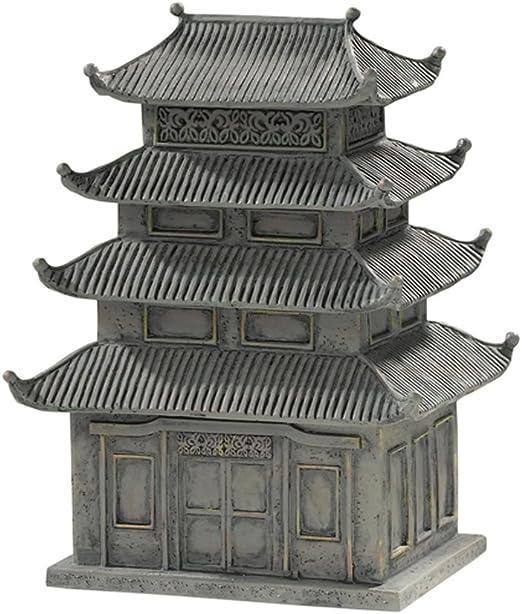 Mini jardín Zen Tamaño pequeño Worlds Pagoda figura decorativa de cerámica