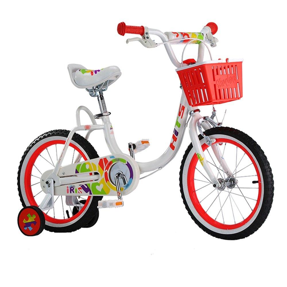 HAIZHEN マウンテンバイク 子供用自転車 ホワイトピンク 16インチ アウトドアアウト 新生児 B07C6R85XZ 白 白