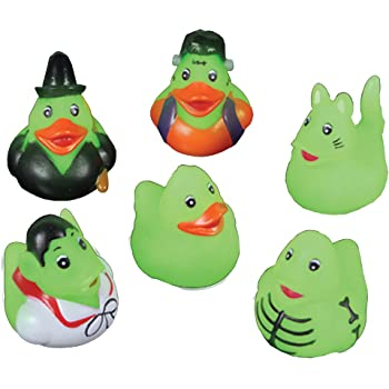 Amazon Com Mini Glow In The Dark Halloween Rubber Ducks