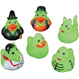 Mini Glow in the Dark Halloween Rubber Ducks - Set of 24 Duckies/Duckie/Ducky