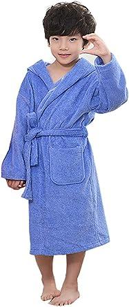 GLLMY Bata de baño para niños de algodón Peinado para otoño e Invierno, Gruesa, con Capucha, Suave, cómoda, Absorbente, para niños y niñas: Amazon.es: Ropa y accesorios