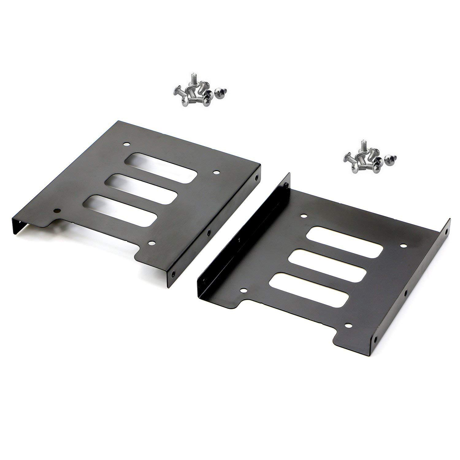 Pasow 2 Pack 2.5'' to 3.5'' SSD HDD Hard Disk Drive Bays Holder Metal Mounting Bracket Adapter for PC (Bracket) by PASOW (Image #1)
