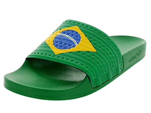 264cc7199ce64f Adidas Adilette Flags Originals Sandal Mens Brazil Colorway 11 D(M) US   Amazon.in  Shoes   Handbags
