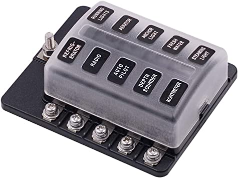 Amazon.com: 10-Way Fuse Block – WUPP ATC/ATO Fuse Box with LED Warning  Indicator & Durable Protection Cover for Automotive Car Boat Marine RV  Truck DC 12-24V, Fuses Not Included: AutomotiveAmazon.com