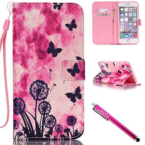 Iphone Executive Case - iPhone 5S Case, iPhone 5 Wallet Case, Firefish Kickstand Flip [Card Slots] Wallet Cover Double Layer Bumper Shell with Magnetic Closure Strap Case for Apple iPhone 5/5S/SE-Dandelion