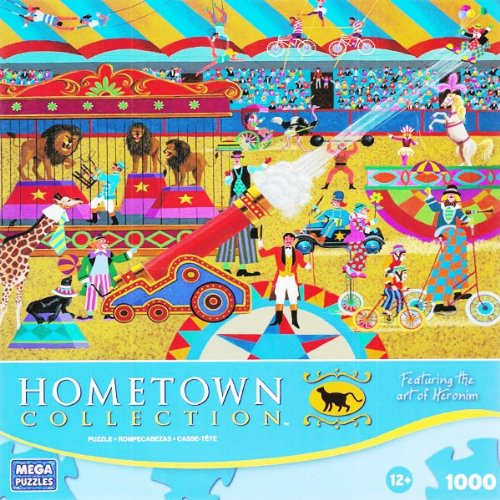HOMETOWN COLLECTION Featuring the art of Heronim At the Circus 1000 Piece Puzzle