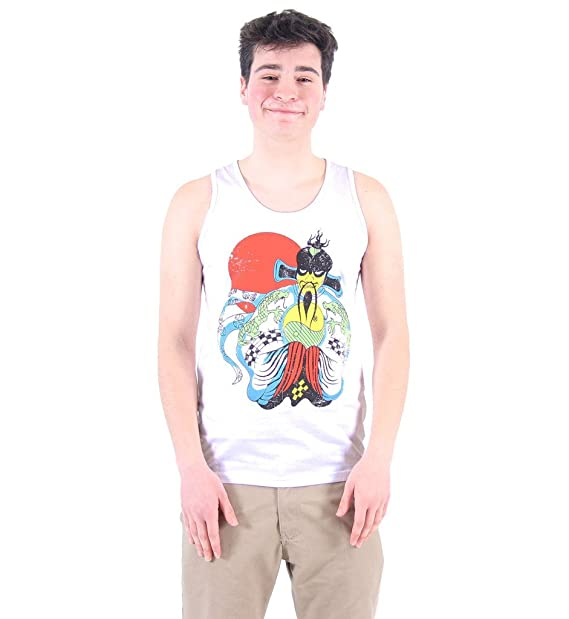 Big Trouble Little China Fu Manchu White Men's Tank Top (Small)