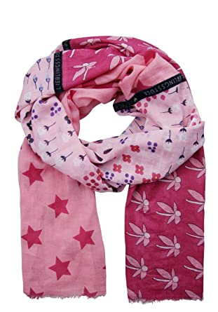 4d119dd415867e Lieblingsstück Tuch MADELEINE Allover Druck Blumen/Sterne rosa ...