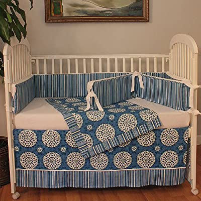 Hoohobbers Medallion Blue 4 Piece Crib Bedding Set from Hoohobbers