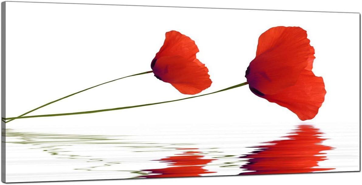 Grande rojo cuadros en lienzo de amapolas–barato Floral pared arte–1029–Wallfillers®